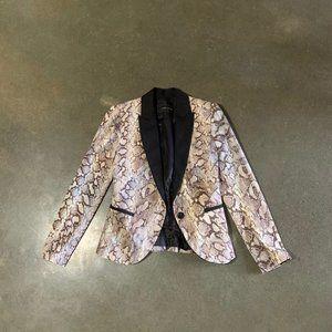 Zara python print tuxedo style jacket